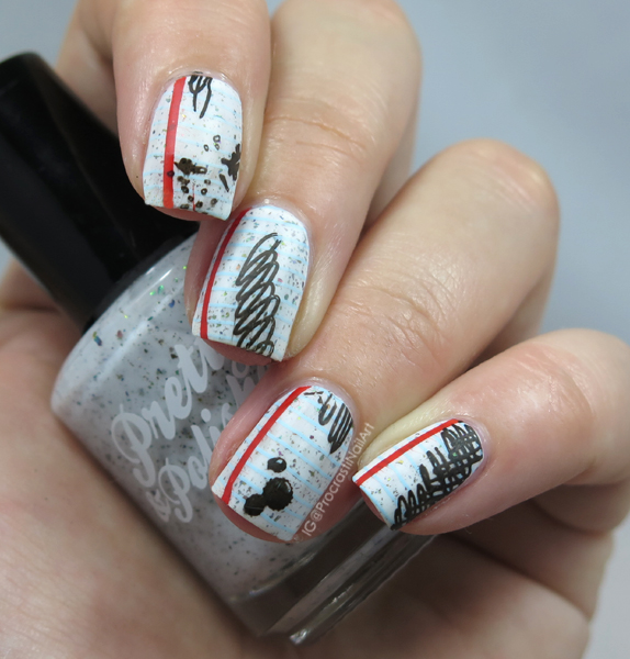 Nail Art // The Digit-al Dozen Does Paper: Scribble Paper Nails ...