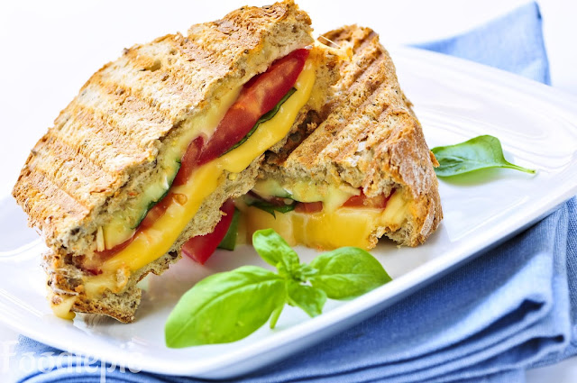 Grilled Cheese and Mushroom Sandwich Recipe at Home