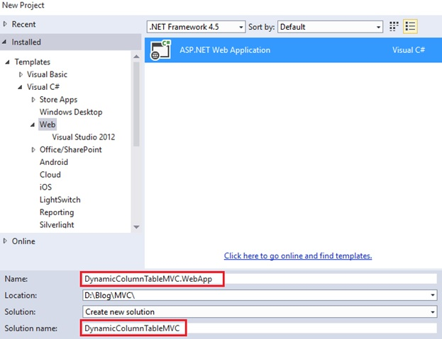 Dynamic columns for a table in ASP NET MVC |  net tips and