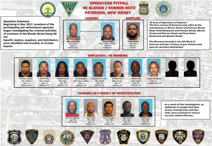 Arrestan 49 sospechosos de presunta banda de narcotráfico  y armas en Nueva Jersey dirigidos por dominicanos