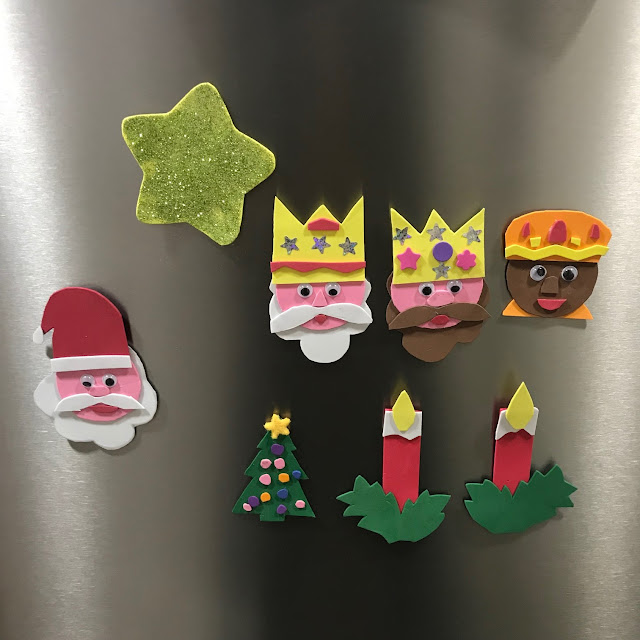 30 y y mam adornos navide os para nevera con goma eva - Adornos navidenos ninos ...