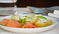 Ensalada de salmón ahumado con patatas