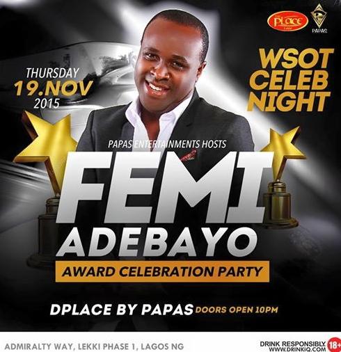 femi adebayo award party