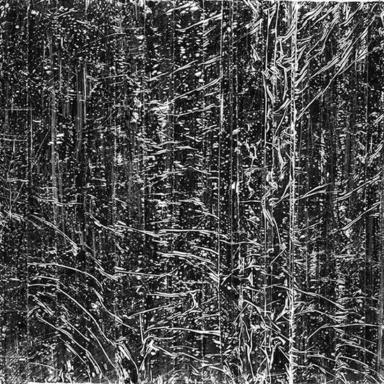 Stephan van den Burg  Untitled, 2014 ink and tape on paper 25.4 x 25.4 cm