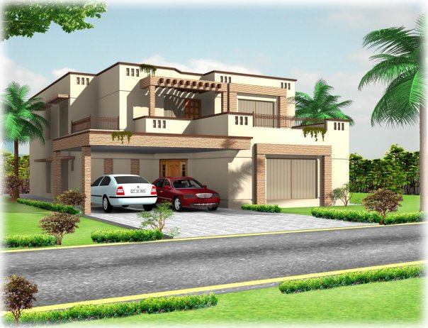 3d Front Elevation Lahore : Kanal d front elevation house free lahore pakistan