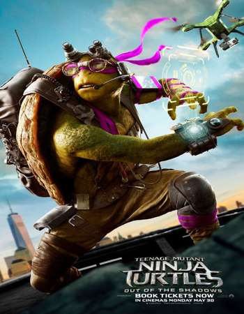 Poster Of Teenage Mutant Ninja Turtles Out of the Shadows 2016 English 400MB BRRip 720p ESubs HEVC Free Download Watch Online downloadhub.in