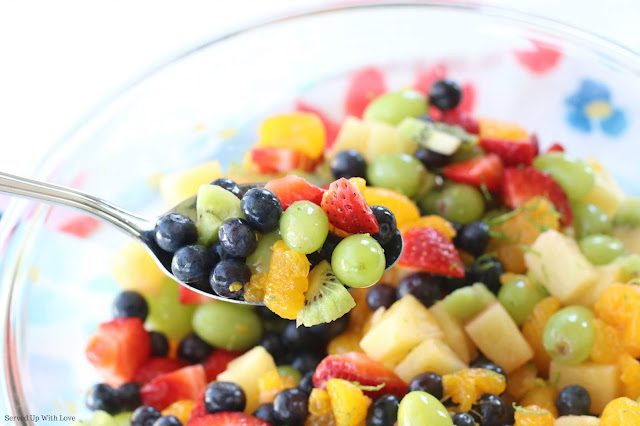 Honey Lime Fruit Salad recipe from Served Up With Love