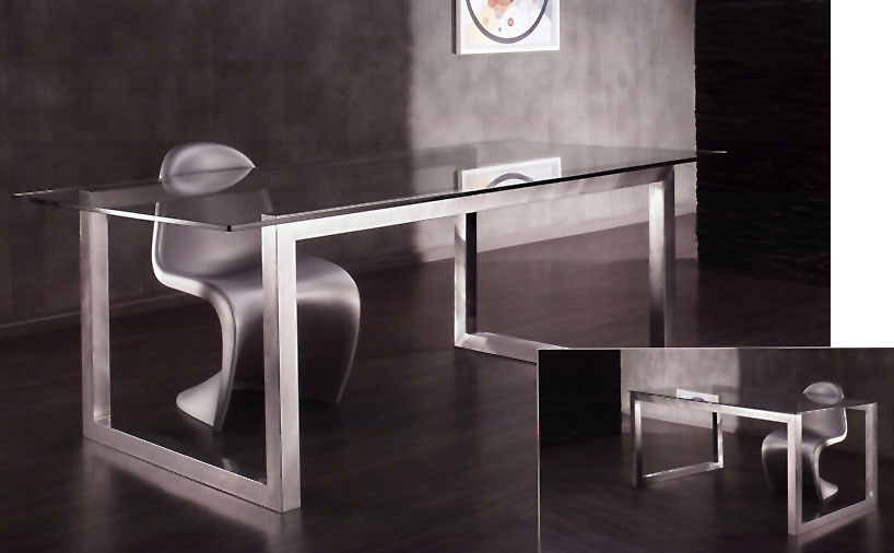 Fabricamos mesas decorativas de acero inoxidable - Hierro y aluminio ...