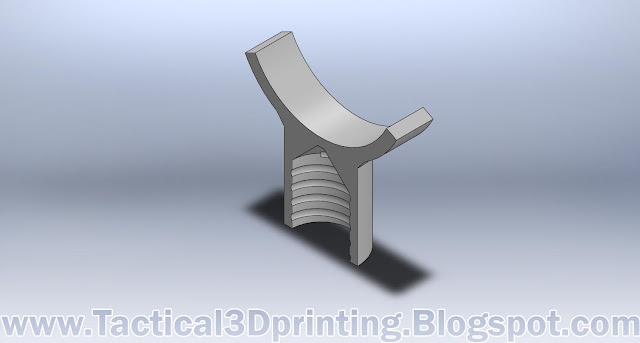 3D Printing a Rifle Stabilizer CAD Drawing Part Solidworks Cross Section 2
