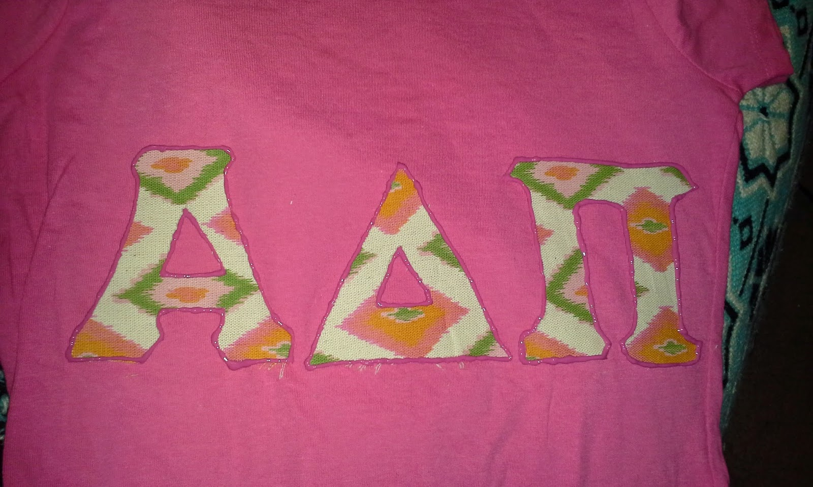 Diy fashion no sew sorority greek letter shirt paint drink laugh solutioingenieria Gallery
