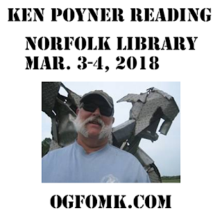 © Ken Poyner / OgFOMK ArTS -- 2018 All Rights Reserved. - March 3-4, 2018 - Norfolk Public Library - Author Fair - Slover Library 2018