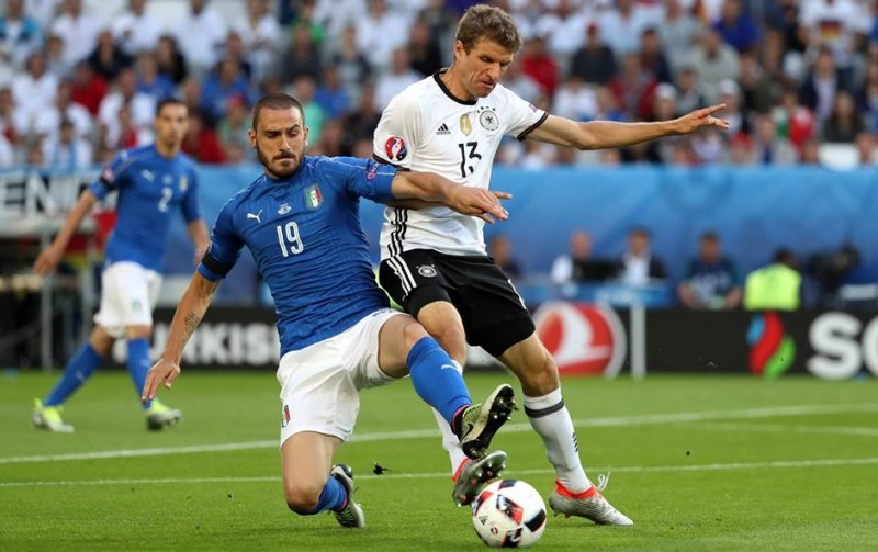 Laga Italia Vs Jerman di perempatfinal Euro 2016