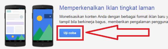 gambar iklan google Adsense tingkat laman