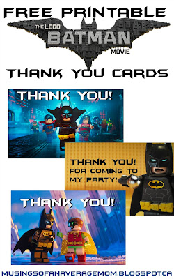 Batman Lego Birthday Part printables