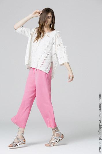 Pantalones cropped. Moda de verano 2017.