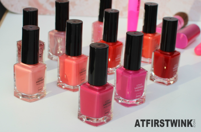 HEMA S/S 2015 nail polishes: pink theme
