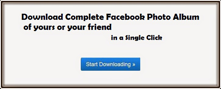 How to Download Facebook Photo Album in a Single click