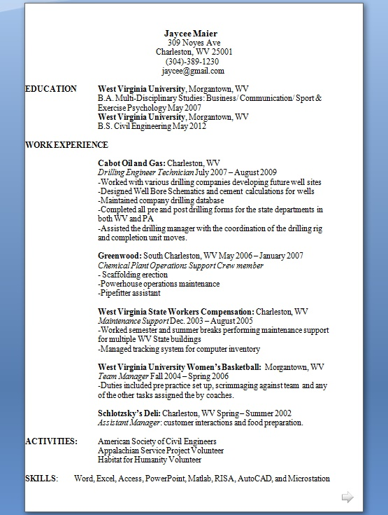 Maintenance Support Sample Resume Format in Word Free Download
