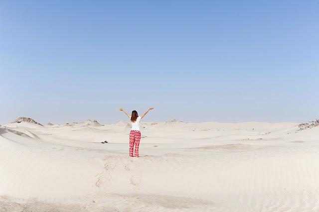 White desert in Oman is also known as Sugar dunes near Al Khaluf village