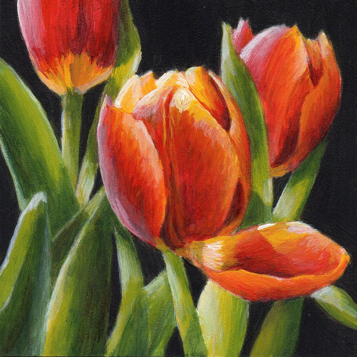Debbie Shirley Art: Touched - Small Floral Painting