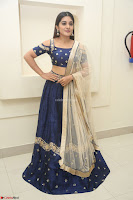 Niveda Thomas in Lovely Blue Cold Shoulder Ghagra Choli Transparent Chunni ~  Exclusive Celebrities Galleries 051.JPG