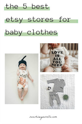 the five best etsy stores for baby clothes