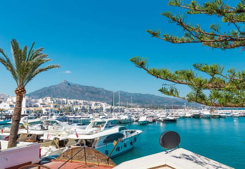 Puerto Banus Marbella Spain Costa del Sol vacation holiday