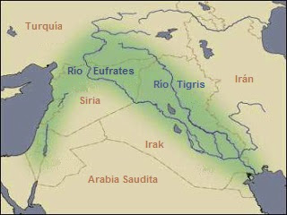 Mapa De Oriente Medio El Creciente Fertil.Historia Simple La Media Luna Fertil
