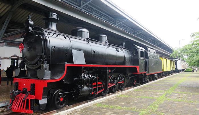Kereta Uap di Museum Kereta Api Ambarawa