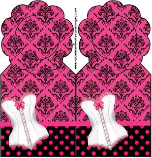 Marcapaginas para Imprimir Gratis de Lencería en Rosa.