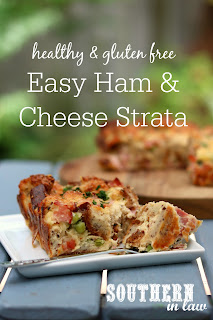 Easy Gluten Free Ham and Cheese Strata Recipe