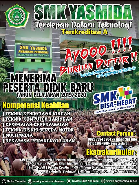 Desain Brosur Sosialisasi SMK Yasmida Ambarawa Baru