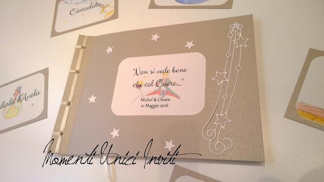 ch2 I Guest Book a tema Piccolo Principe per i nostri futuri sposini...Colore Bianco Colore Sabbia Guest Book Tema Piccolo Principe