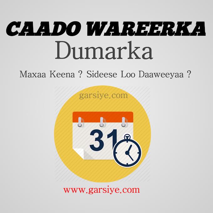 Caado Wareerka Maxaa Sababo Sideese loo xalin karaa