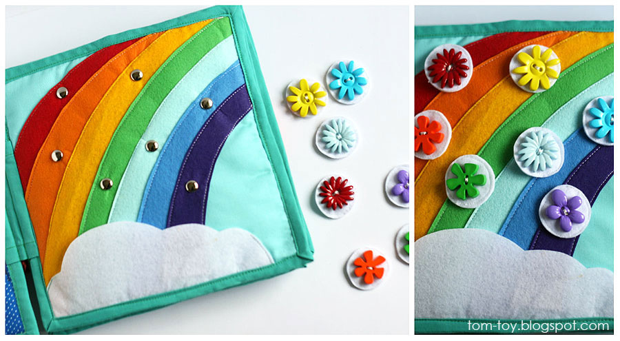 Quiet book for Monroe, handmade, busy book, travel toy, unique gift, magnet rainbow, развивающая книжка, радуга на магнитах