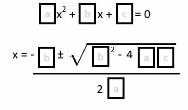 Math = Love: Quadratic Formula Templates
