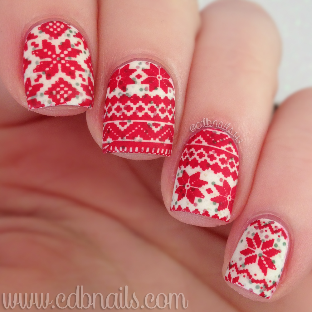 cdbnails: 12 Days of Christmas Nail Art | Ugly Sweater