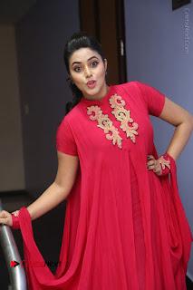Actress Poorna Latest Stills in Red Dress at Rakshasi First Look Launch  0214.JPG