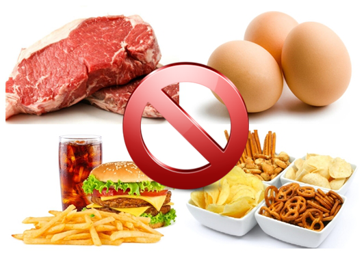 الاطعمة التي تحتوي على نسبة عالية من الكوليسترول