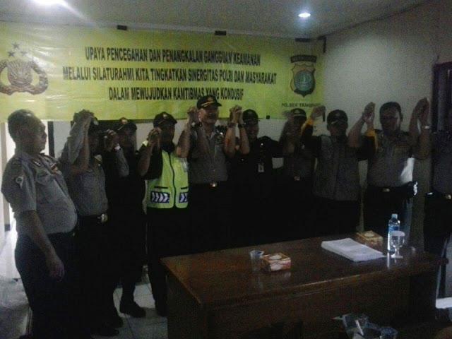 Kapolsek Tangerang Ajak Sekom & Pokdar Kamtibmas Jaga Situasi Kondisi Selama Bulan Ramadhan