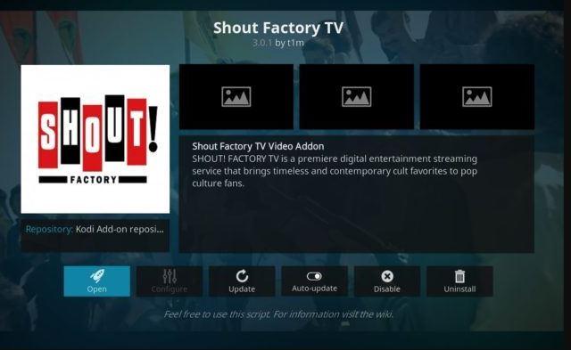 Shout Factory TV - Addon Movie Kodi Terbaik