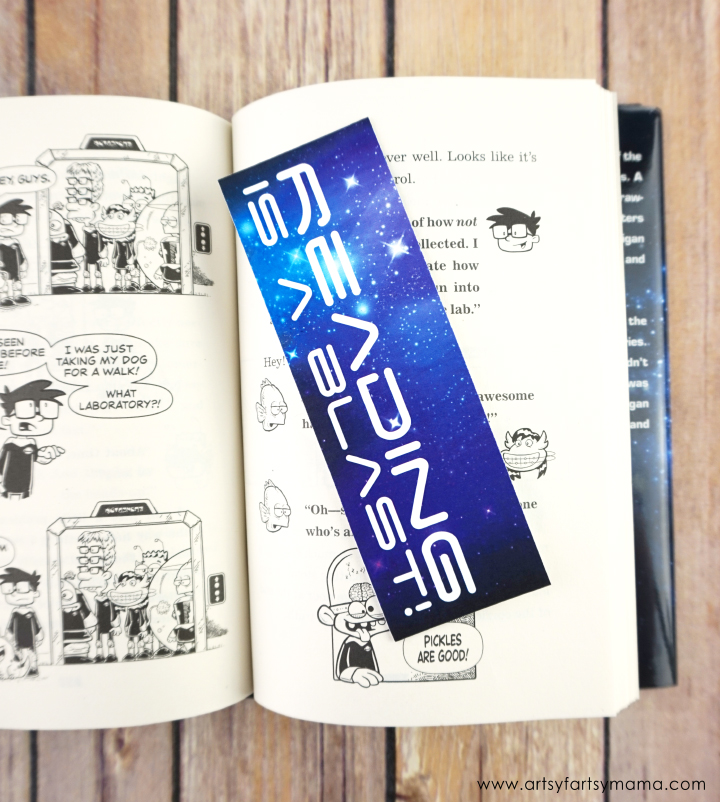 Sci-Fi Junior High Book Review and Free Printable Outer Space Bookmarks #SciFiJuniorHigh