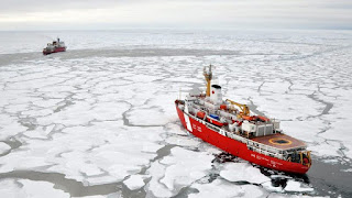 With sea ice in retreat, the Arctic is opening up to shipping (Picture Credit: Patrick Kelley, US Coast Guard) Click to Enlarge.