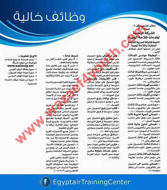 وزارة الطيران المدني : وظائف الشركه المصريه القابضه للمطارات والملاحة الجوية لجميع المؤهلات اعلان رقم 2 لسنة 2016