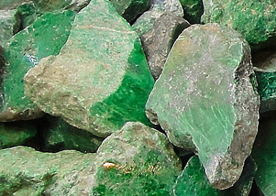 raw green jade-stones