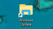 Icona collegamento desktop Windows Update su Windows 10