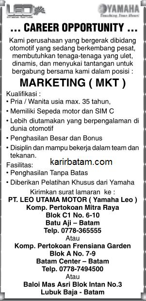 Lowongan Kerja PT. Leo Utama Motor (Mei 2017)