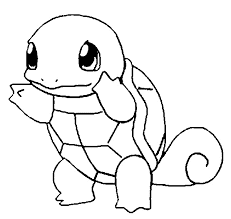 Squirtle coloring page 2