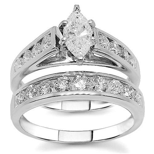 Magnificent Marquise Diamond Bridal Wedding Ring Set Design
