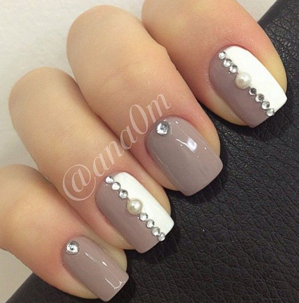 Nail Art Design Color Gray Absolute Cycle